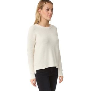 Madewell Cotton Blend Knit Sweater Ivory